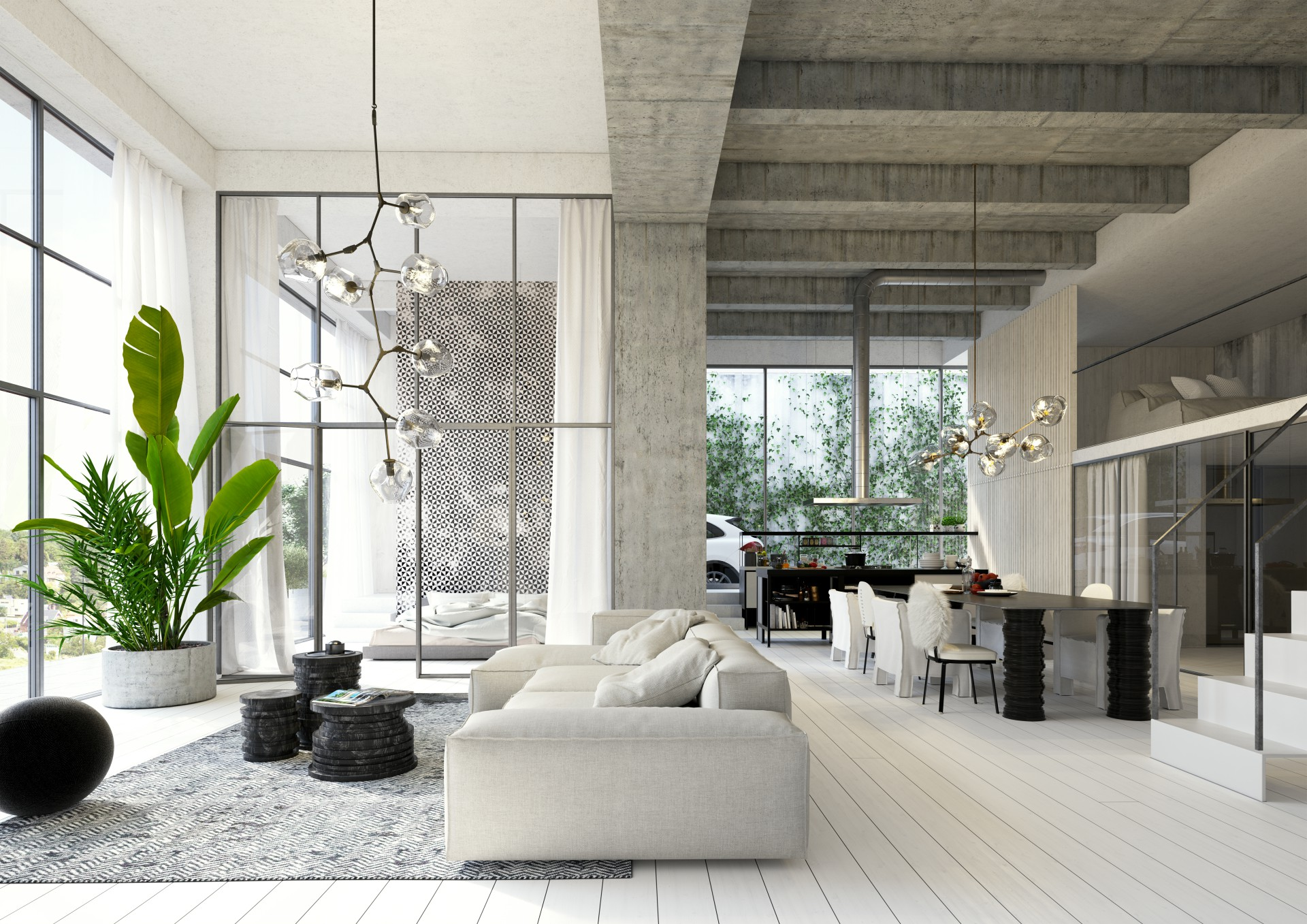 Loft interior design options available + 100m<sup>2</sup> by Ivanka Kowalski. Floor plan may differ to actual plan.