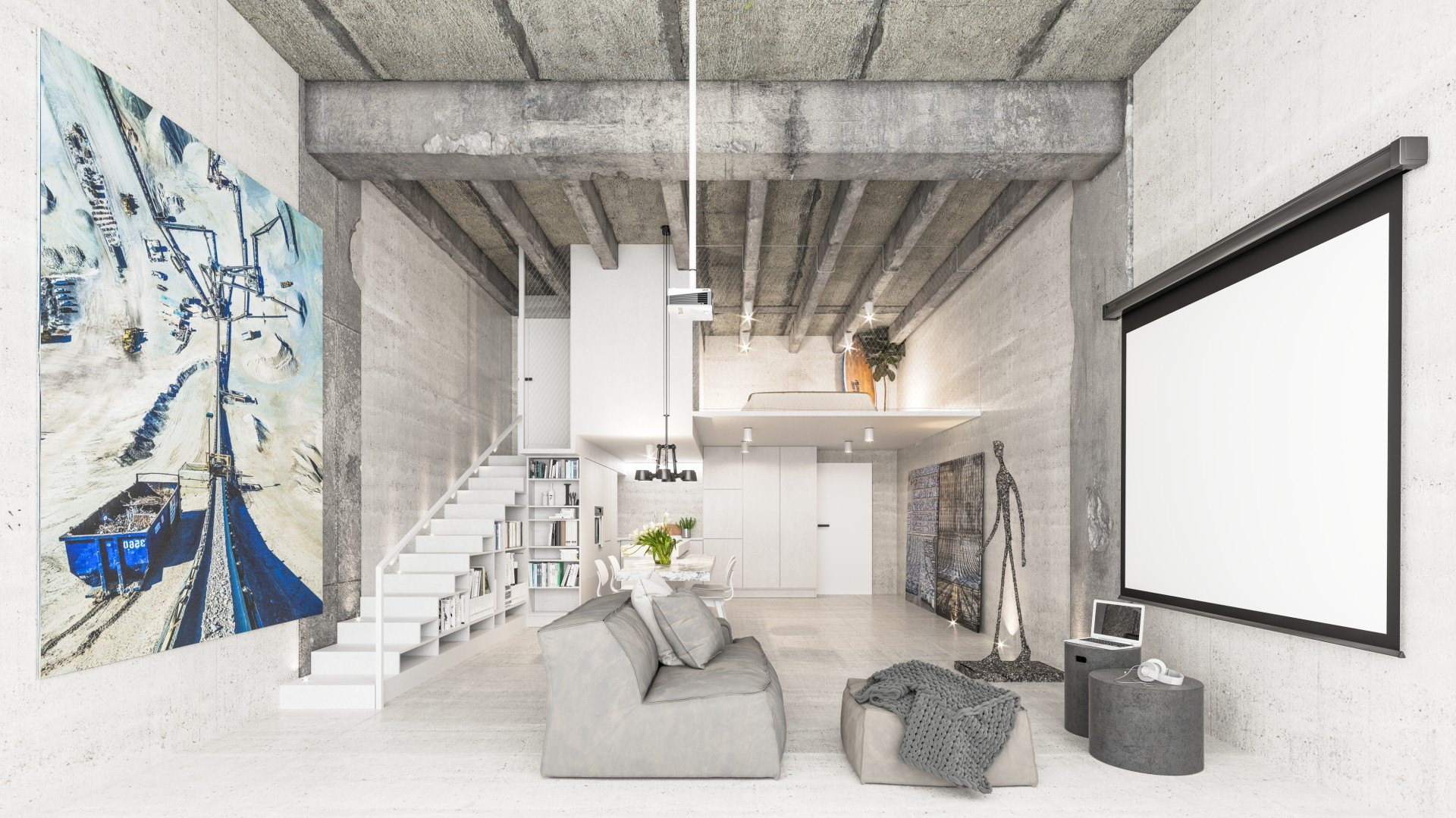 Loft interior design options available by OOOOX. Floor plan may differ to actual plan.