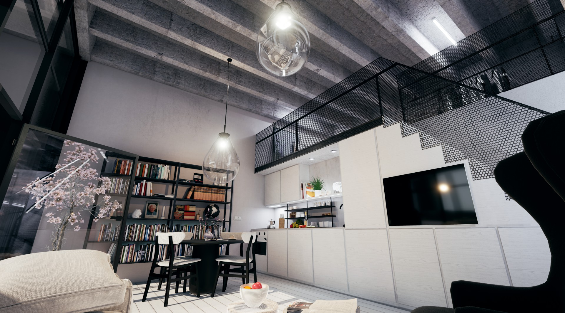 Loft interior design options available + 50m<sup>2</sup> by Ivanka Kowalski. Floor plan may differ to actual plan.
